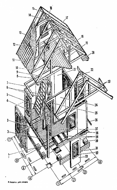Схема сборки садового домика